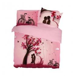 Completo lenzuola matrimoniale 2 posti Pierre Cardin stampa digitale 4D cotone 100%